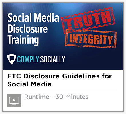 Social Media Disclosure Training